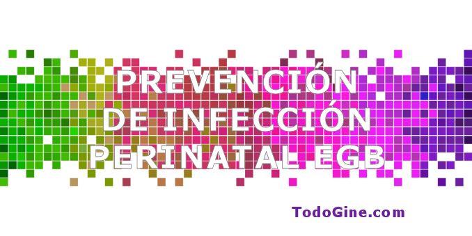 Prevención de infección perinatal por estreptococo